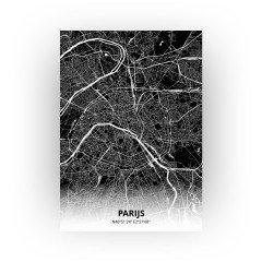 Parijs print - Zwart stijl