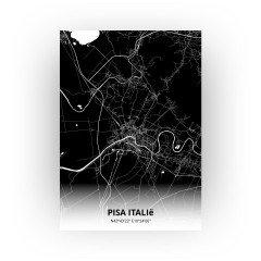 Pisa Italië print - Zwart stijl