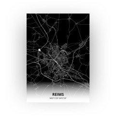 Reims print - Zwart stijl