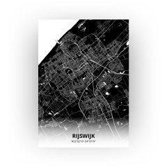 Rijswijk print - Zwart stijl