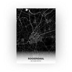 Roosendaal print - Zwart stijl