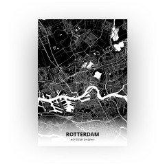 Rotterdam print - Zwart stijl