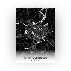 's-Hertogenbosch print - Zwart stijl