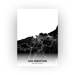 San Sebastian print - Zwart stijl