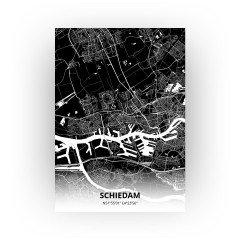 Schiedam print - Zwart stijl