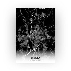 Sevilla print - Zwart stijl