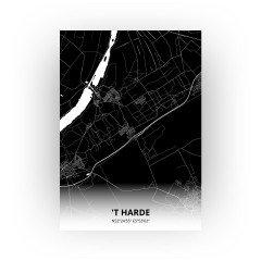 't Harde print - Zwart stijl