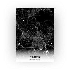 Tilburg print - Zwart stijl