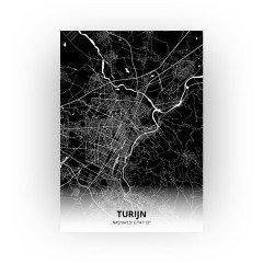 Turijn print - Zwart stijl