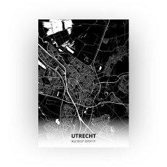 Utrecht print - Zwart stijl