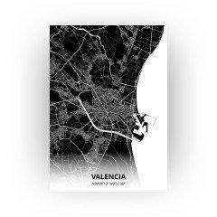 Valencia print - Zwart stijl