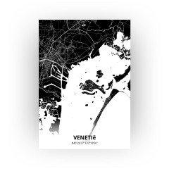 Venetië print - Zwart stijl