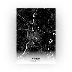 Venlo print - Zwart stijl