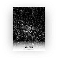 Verona print - Zwart stijl