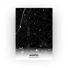 Wortel print - Zwart stijl