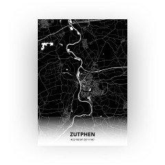 Zutphen print - Zwart stijl