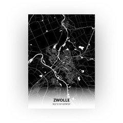Zwolle print - Zwart stijl