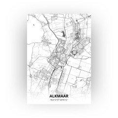 Alkmaar print - Zwart Wit stijl