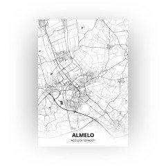 Almelo print - Zwart Wit stijl
