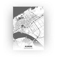 Almere print - Zwart Wit stijl