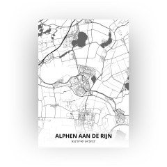Alphen aan de Rijn print - Zwart Wit stijl