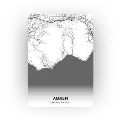 Amalfi print - Zwart Wit stijl