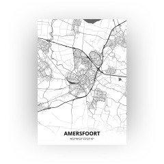 Amersfoort print - Zwart Wit stijl