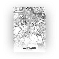 Amstelveen print - Zwart Wit stijl