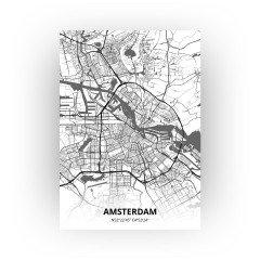 Amsterdam print - Zwart Wit stijl