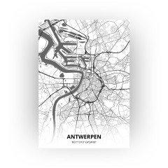 Antwerpen print - Zwart Wit stijl