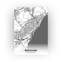 Barcelona print - Zwart Wit stijl