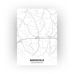 Barneveld print - Zwart Wit stijl