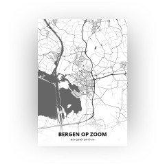 Bergen op Zoom print - Zwart Wit stijl