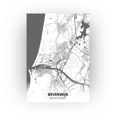Beverwijk print - Zwart Wit stijl