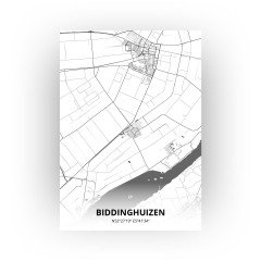 Biddinghuizen print - Zwart Wit stijl
