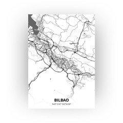 Bilbao print - Zwart Wit stijl