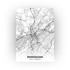 Birmingham print - Zwart Wit stijl
