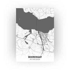Boerengat print - Zwart Wit stijl
