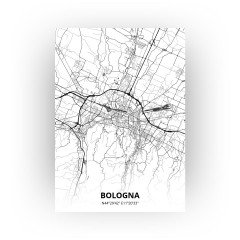 Bologna print - Zwart Wit stijl