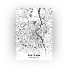 Bordeaux print - Zwart Wit stijl