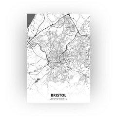 Bristol print - Zwart Wit stijl