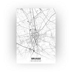 Brugge print - Zwart Wit stijl