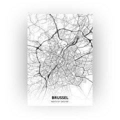 Brussel print - Zwart Wit stijl