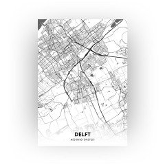 Delft print - Zwart Wit stijl