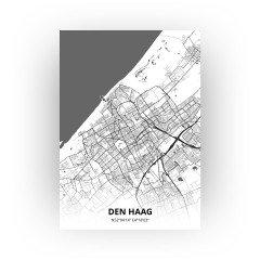Den Haag print - Zwart Wit stijl
