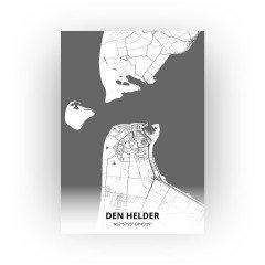 Den Helder print - Zwart Wit stijl