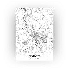 Deventer print - Zwart Wit stijl