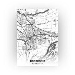 Dordrecht print - Zwart Wit stijl