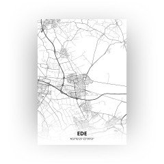 Ede print - Zwart Wit stijl