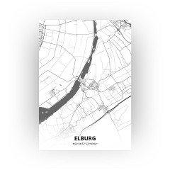 Elburg print - Zwart Wit stijl